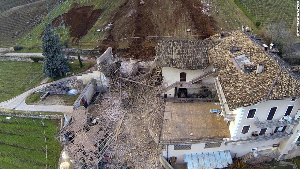 Rockfall Destroys Italian House