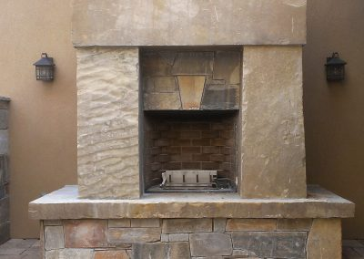 Frontier slab fireplace surround 0724