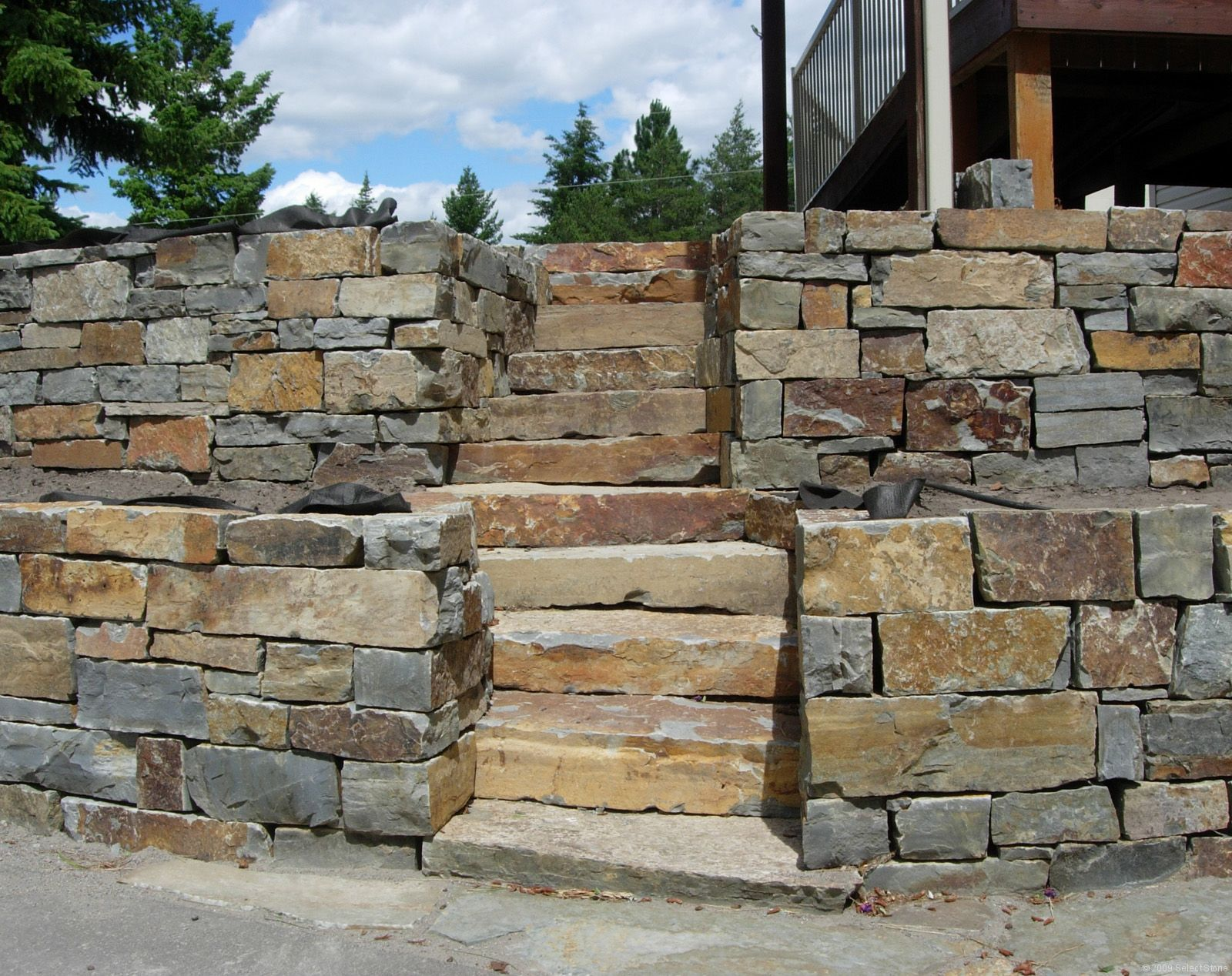 Building A Stone Retaining Wall Dry