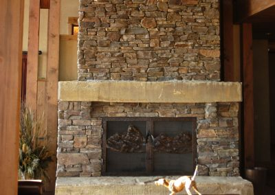 Frontier hearth mantle 4158