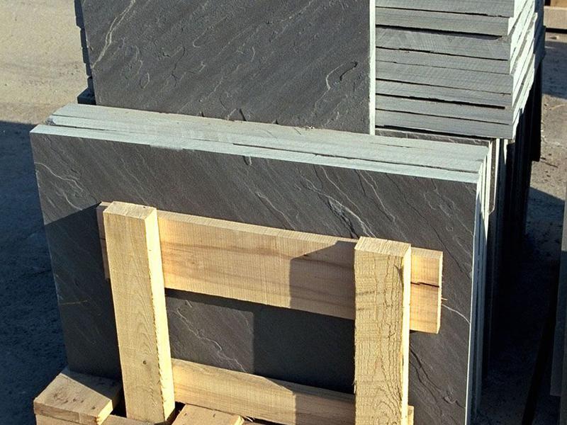 Finished sawn-edge bluestone.