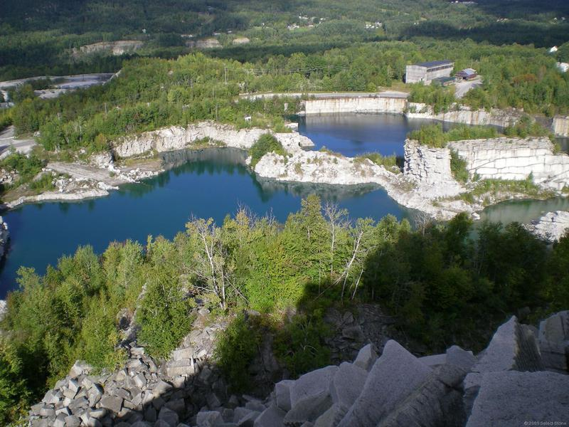 Abandoned quarries in Barre, Vermont.