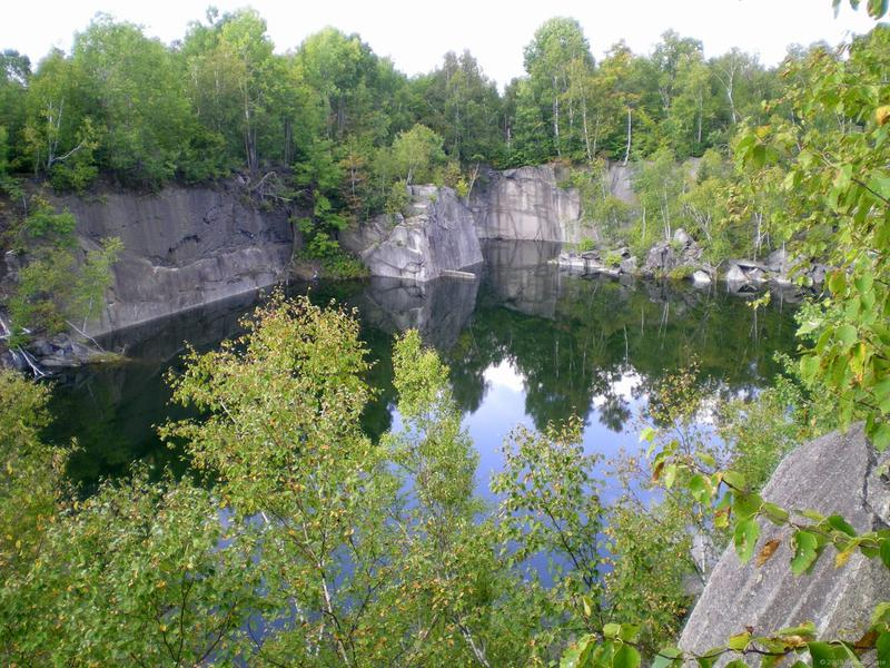 Abandoned quarry in Barre, Vermont.