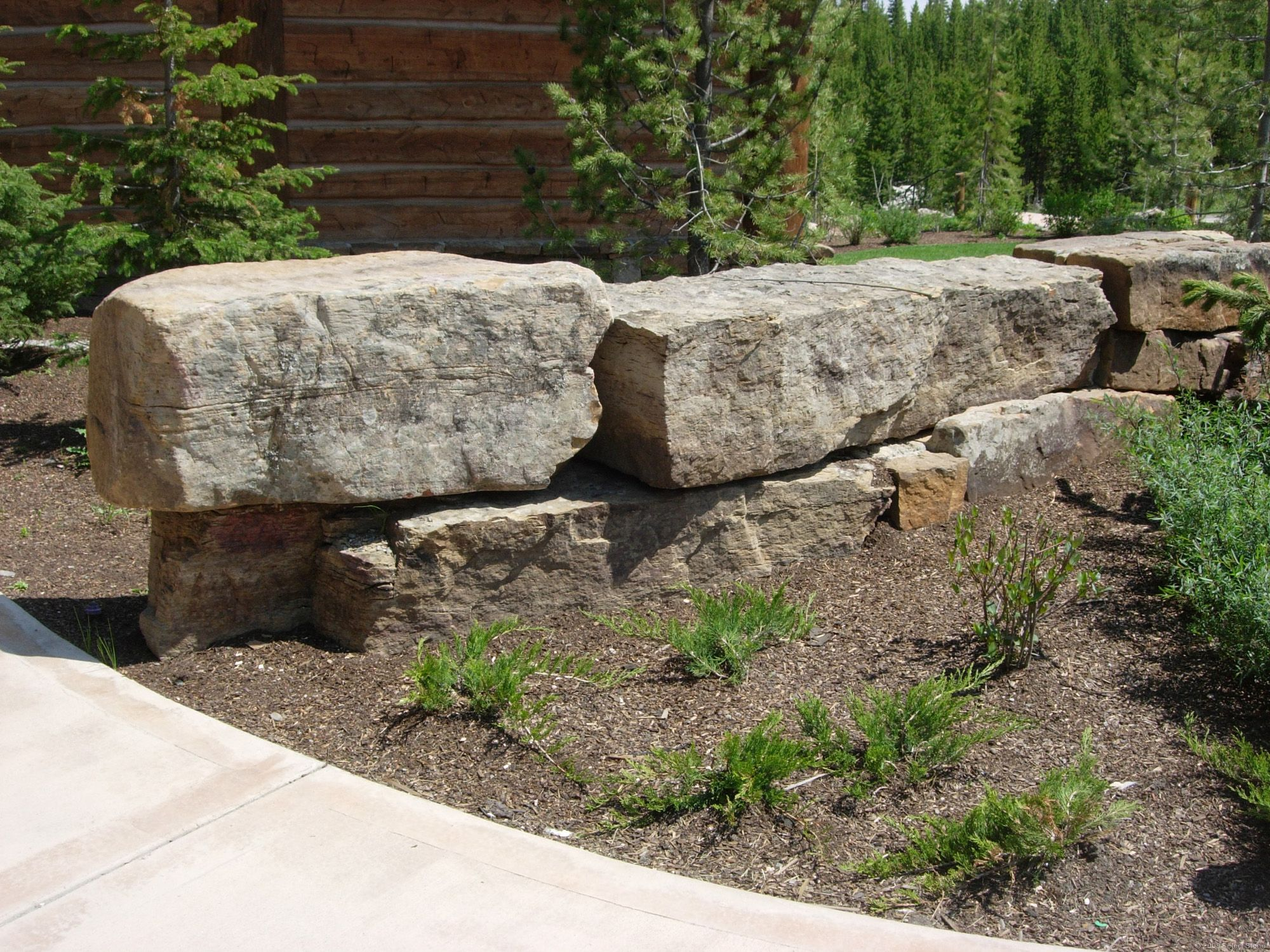 Dry Stack Fieldstone Retaining Wall : Prairie fieldstone dry stack select stone