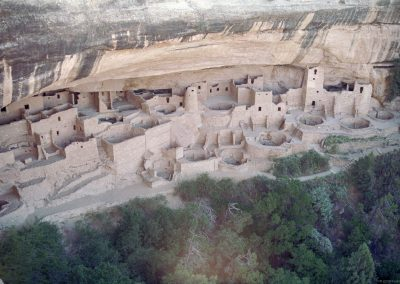 Cliff Pallace is a spectacular cliff ruin in Mesa Verde Nation Park in southwestern Colorado.