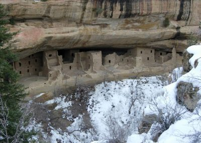 Spruce Tree House is another spectacular cliff ruin in Mesa Verde National Park.