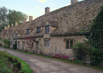 The famous Arlington Row cottages in Bibury on the River Coln.