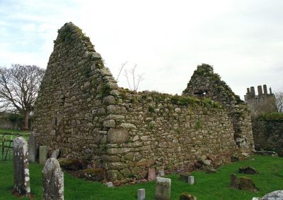 An ancient church building in a cemetary in County Tipperary.