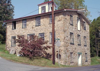 A 19th-century fieldstone mill in Berks County, PA.