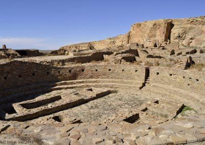 One of the Great Kivas at Pueblo Bonito at Chaco Canyon.