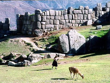 The Sacsayhuaman Fortress is an imposing example of Inca military architecture.