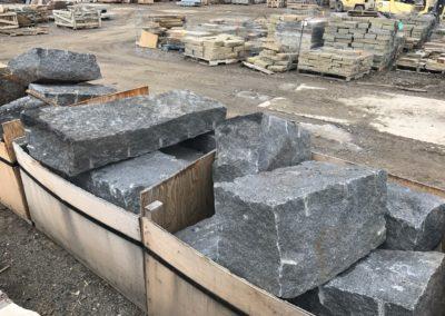 Drilled and split granite blocks 1167