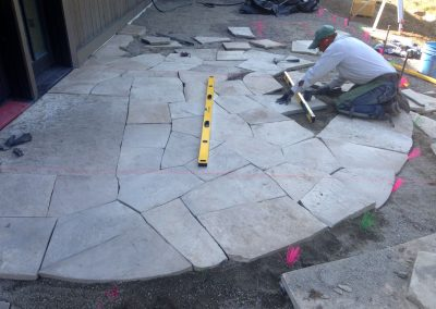 Flagstone installation 75